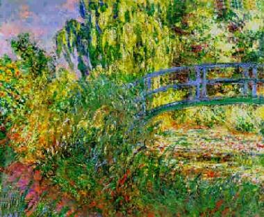 Claude Monet's  Bassin aux nympheas et sentier au bord de l′eau                           (1900)