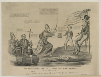 A Typical anti-Catholic Cartoon of the 1840s