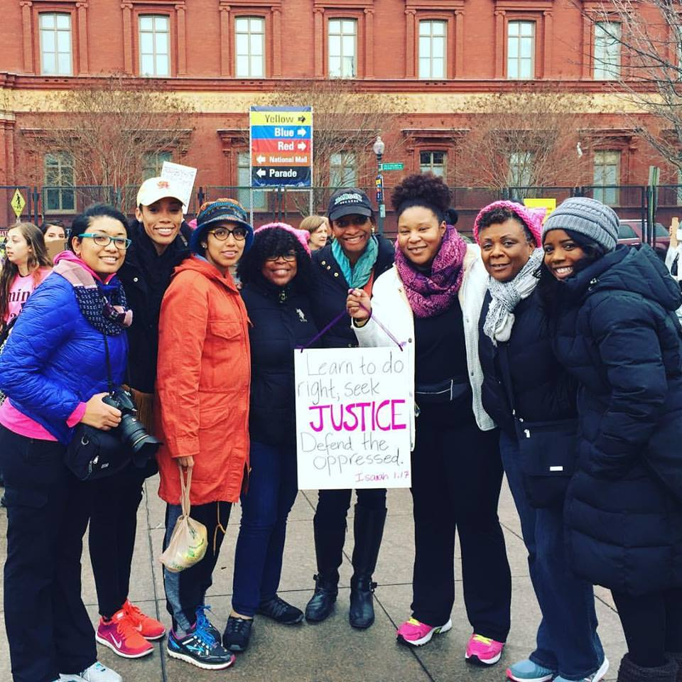 My friends and I from church at the 2017 Women's March on Washington.