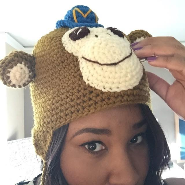 At the Digital PM Summing and loving my new MailChimp hat!