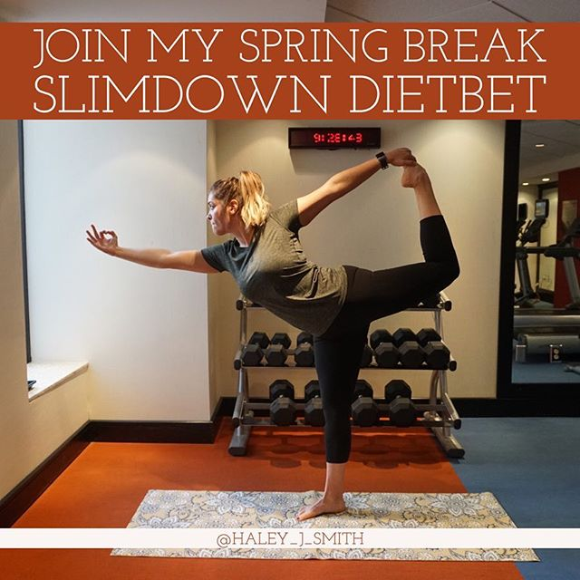 Two more days until my Dietbet starts! We are traveling all day today, so I'll be finalizing my workouts and meal plans for the girls that join! You don't have to do my workouts or meal plans, but they are there for girls that want some guidance! I also plan to include a yoga day since I've been incorporating that in my routines this year! It starts on MONDAY so you will have plenty of time to get your head in the game and slim down for spring break coming up! All you have to do is bet on yourself that you'll lose 4% of your body weight in one month. You can lose more, but it has to be at least 4% to win. If you win, you split the pot with the other winners! Just click on the link in my bio to sign up! Message if you have questions!! • #dietbet #dietbetchallenge #dietbetgoals #diet #eatclean #onemealatatime #onedayatatime #oneworkoutatatime #fitness #fitnessgoals #fitnessmotivation #fitnessinspiration #workoutmotivation #workoutinspiration #fitspo #fitspiration #fitforfall #healthyfortheholidays #healthyholidays #newyearsresolution #fitnessresolution #newyearsfitness #springbreakweightloss #springbreakchallenge #springbreak #weightlosstransformations #weightlosschallenge #springbreakslimdown18 #springbreakslimdown