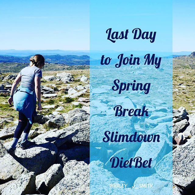 Hey fitness friends! Just wanted to post this last time about this Dietbet round. It'll close this weekend, but you can still join! It's a great way to lose weight and win money! Dietbet isn't about strict diets and running for an hour every day. It's a supportive community of women wanting to be active and get healthy. I post meal plans and workouts that you CAN follow, but lots of girls make their own way. It's about making small changes and going step by step with other women encouraging you! I post motivation, advice, tips, and tricks every single day (which is why I've been a little MIA on Insta.) Anyway, you can click the link in my bio to learn more and join or message me for questions! Hope to see y'all in there! • #dietbet #dietbetchallenge #dietbetgoals #diet #eatclean #onemealatatime #onedayatatime #oneworkoutatatime #fitness #fitnessgoals #fitnessmotivation #fitnessinspiration #workoutmotivation #workoutinspiration #fitspo #fitspiration #fitforfall #healthyfortheholidays #healthyholidays #newyearsresolution #fitnessresolution #newyearsfitness #springbreakweightloss #springbreakchallenge #springbreak #weightlosstransformations #weightlosschallenge #springbreakslimdown18 #springbreakslimdown