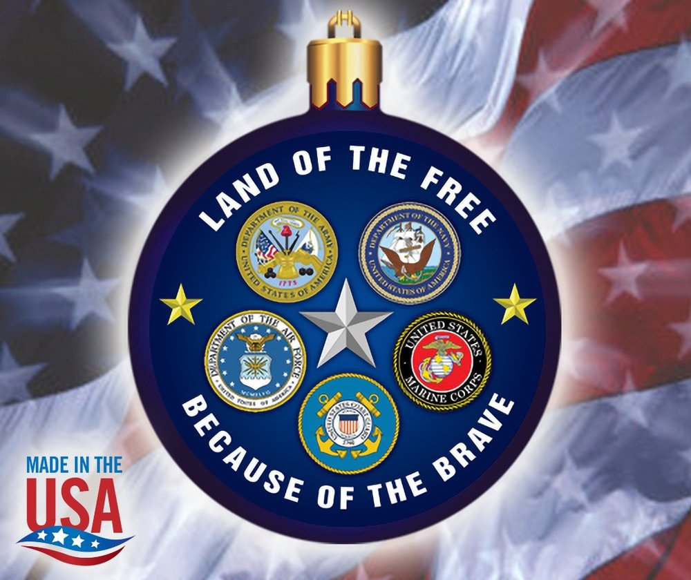 military branches emblem collectible ornament casino promo products