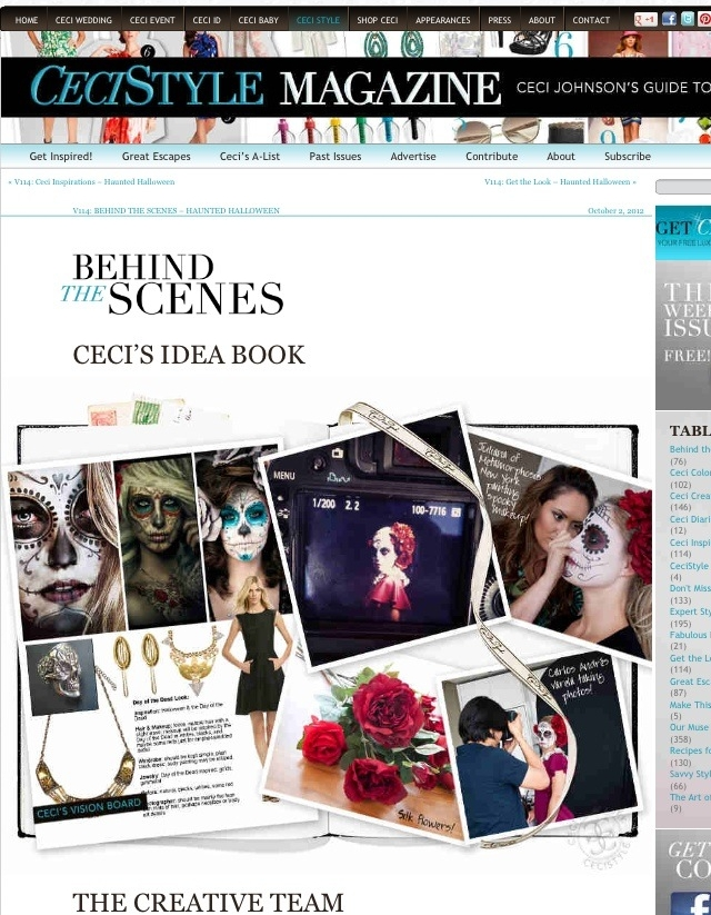 CeciStyle Magazine - Inspiration board and behind the scenes - V 114 - Haunted Halloween