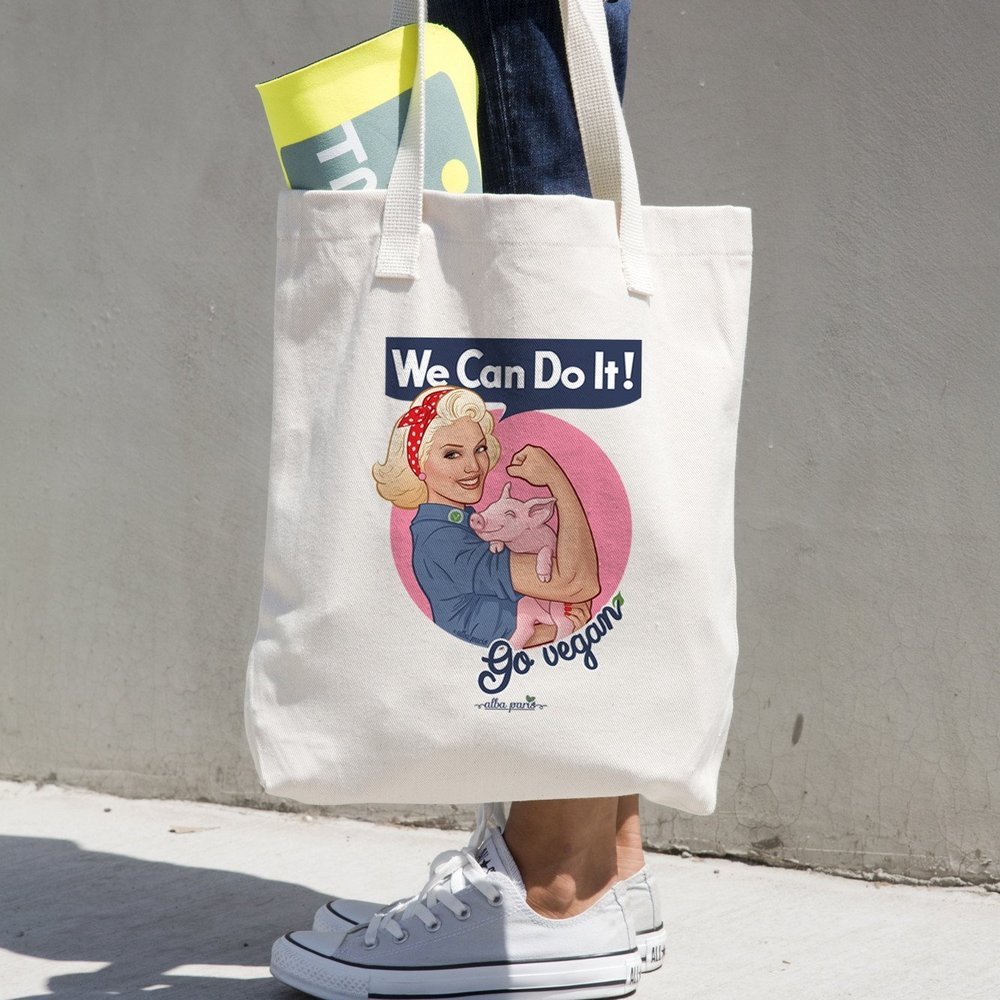 we can do it go vegan tote