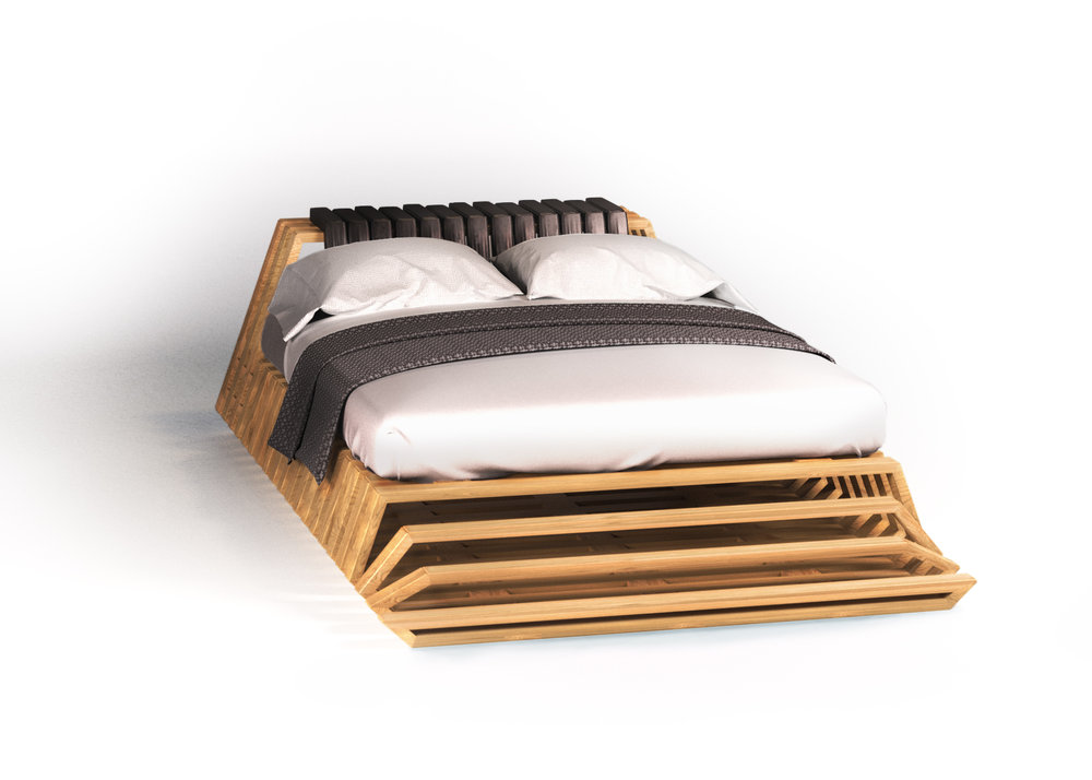 Breathtaking And Effervescent The Joji Bed Creates Dynamism Through Morphing  Structural Frames. With Its Open Framing Joji Enfolds An Ethereal Volume Of  ...
