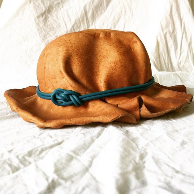 . . . 2.0 #design #designprocess #inthestudio #hatmaking #leatherworking #experimental #contemporarydesign #design #bradleylbowers