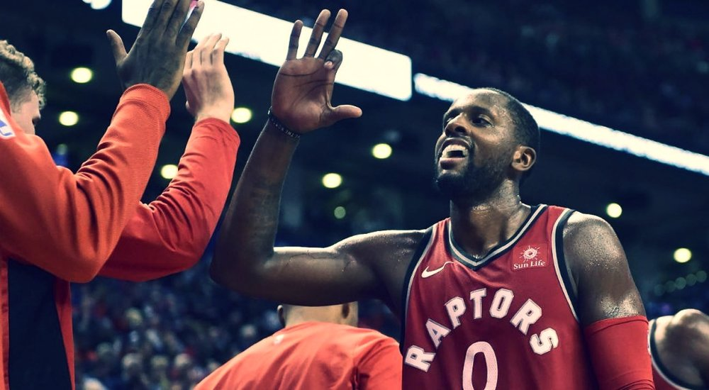 SINCE JOINING THE RAPTORS, C.J. MILES HAS AVERAGED 10.6 POINTS AND SHOOTING 41.5% FROM BEYOND TH ARC. PHOTO FROM SPORTSNET.
