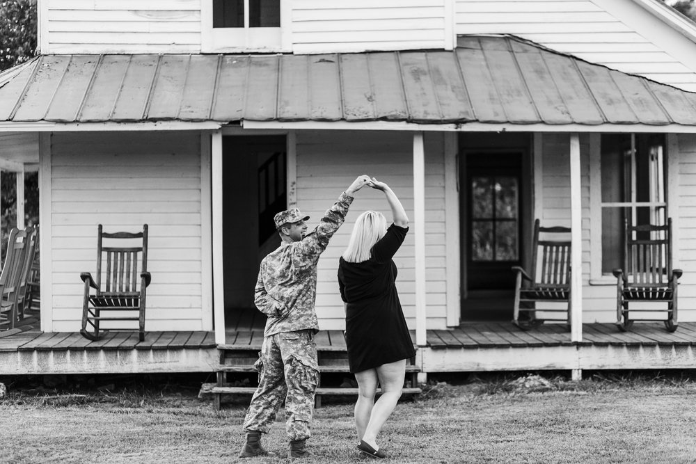couple dancing seven islands state birding park engagement photographer knoxville winx photo jesse quinn