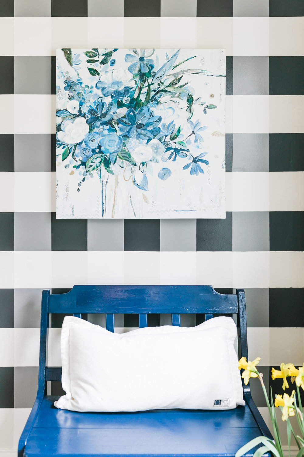 gingham wall paint