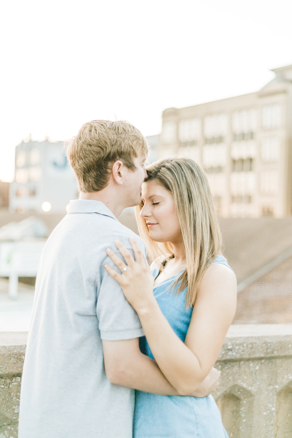 downtown knoxville sunrise engagement