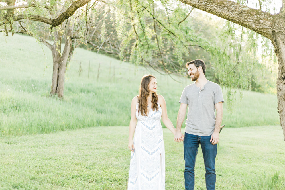 Knoxville Engagement Farm Country Manor Acres