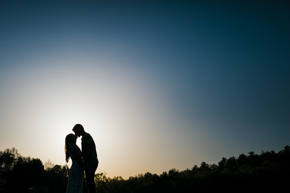 Sunset Silhouette Engagement Knoxville