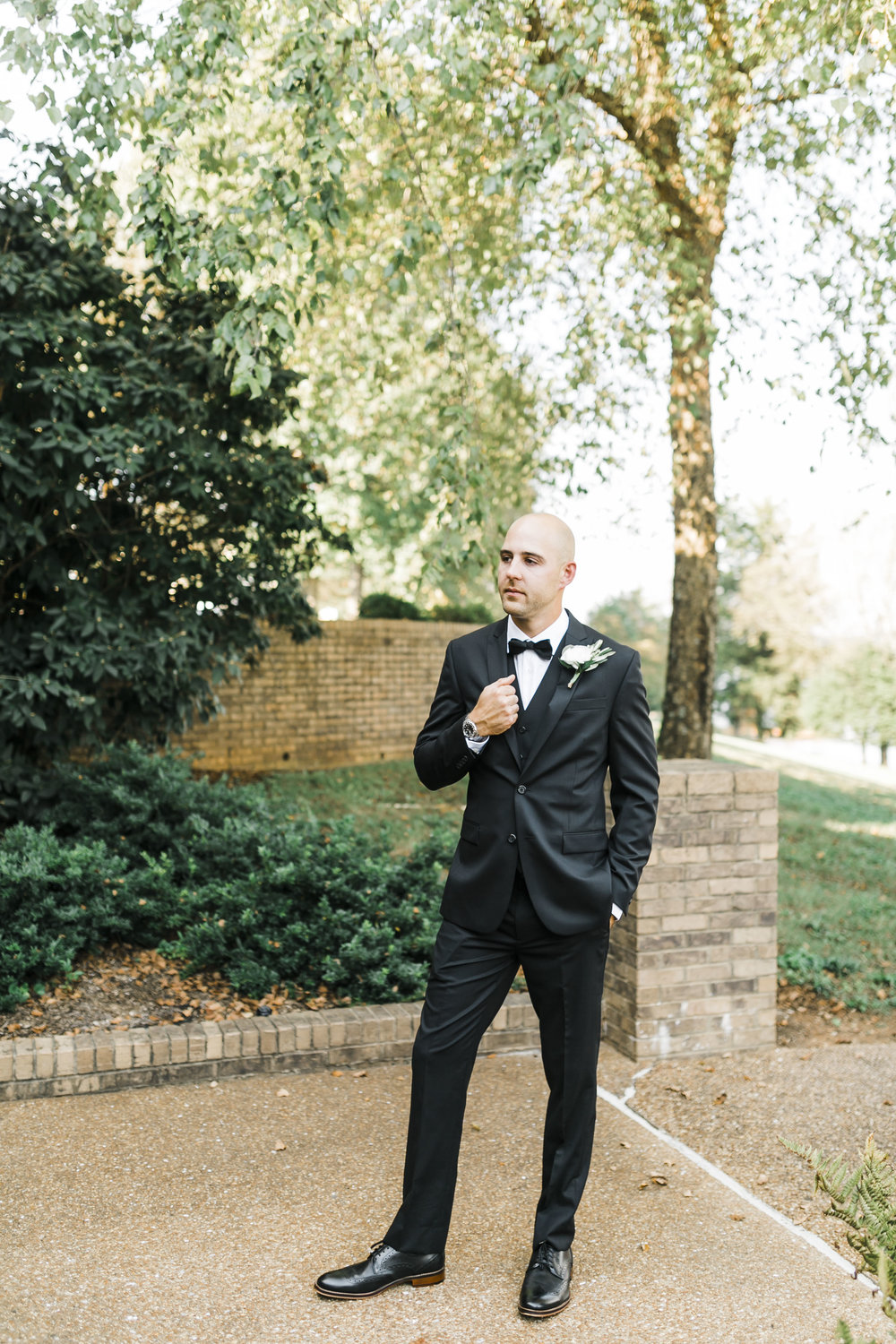 groom portrait tux tellico village yacht club