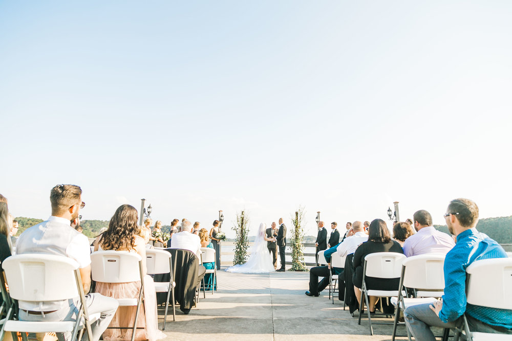 tellico village pier outdoor wedding