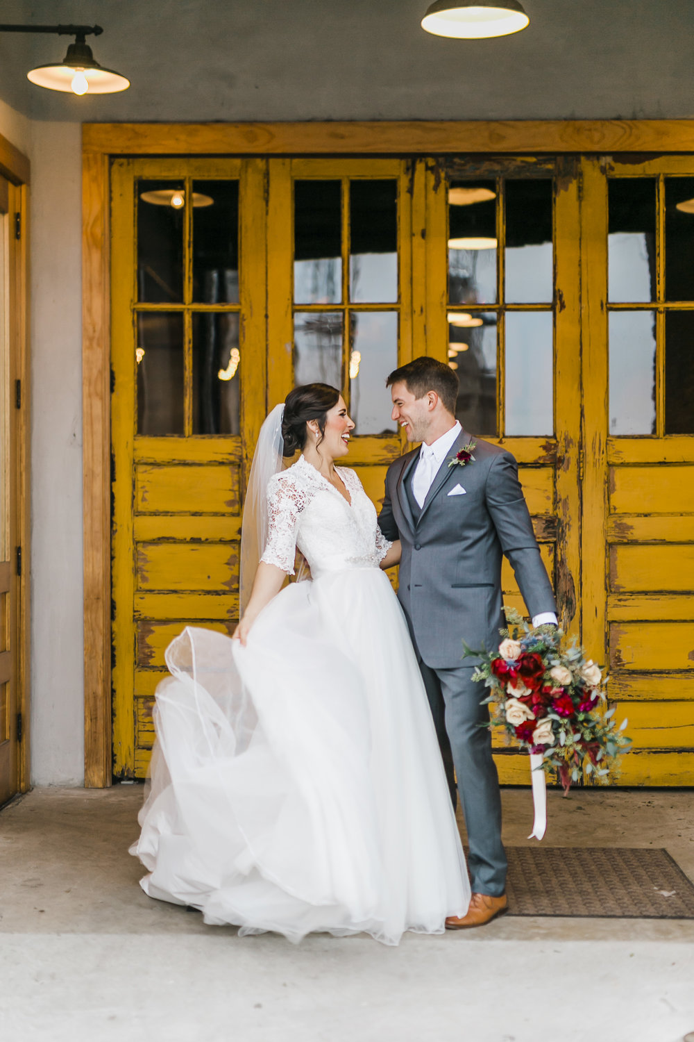 downtown knoxville yellow doors the standard wedding