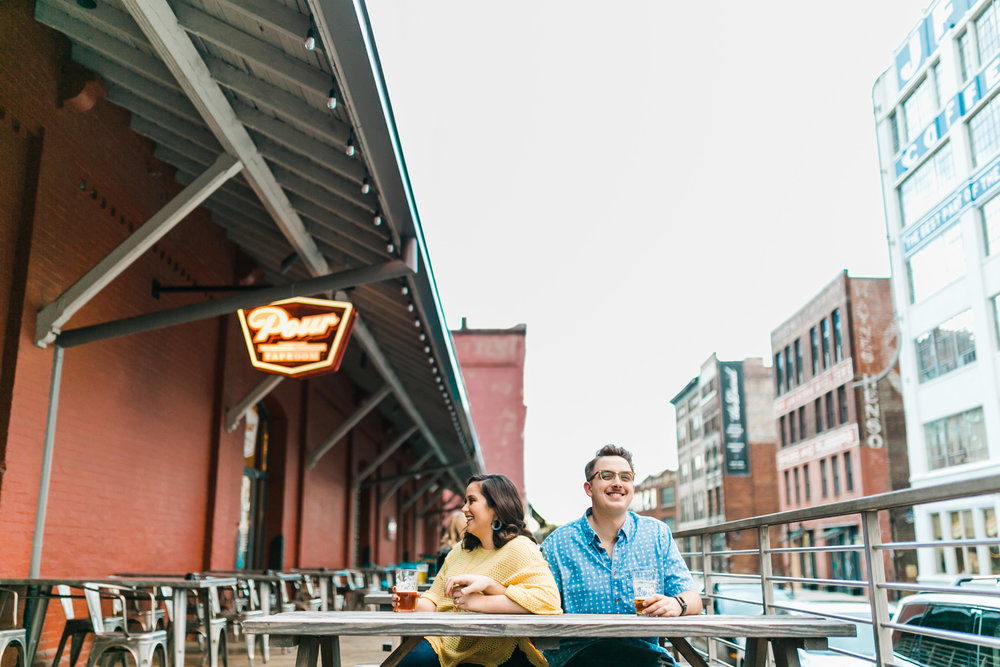 pour taproom engagement session beer drinking downtown knoxville