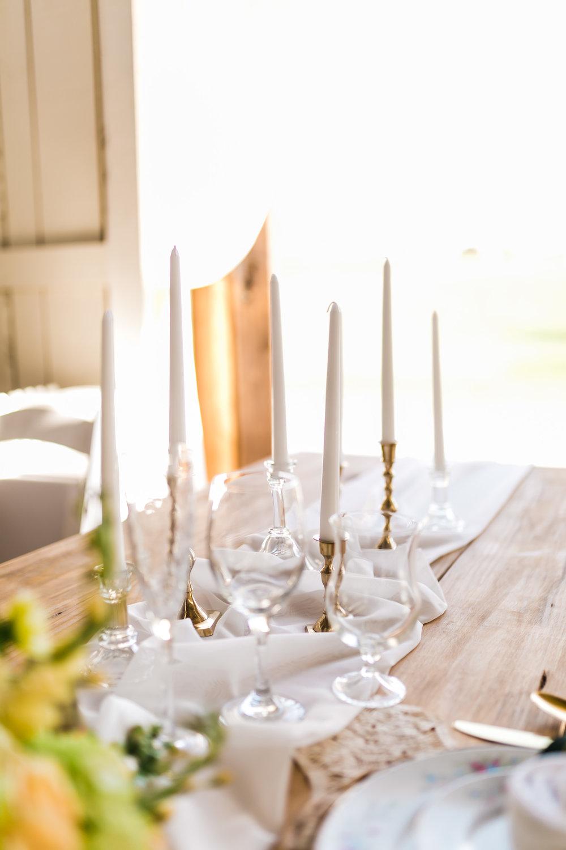 candlestick centerpiece wedding light barn table