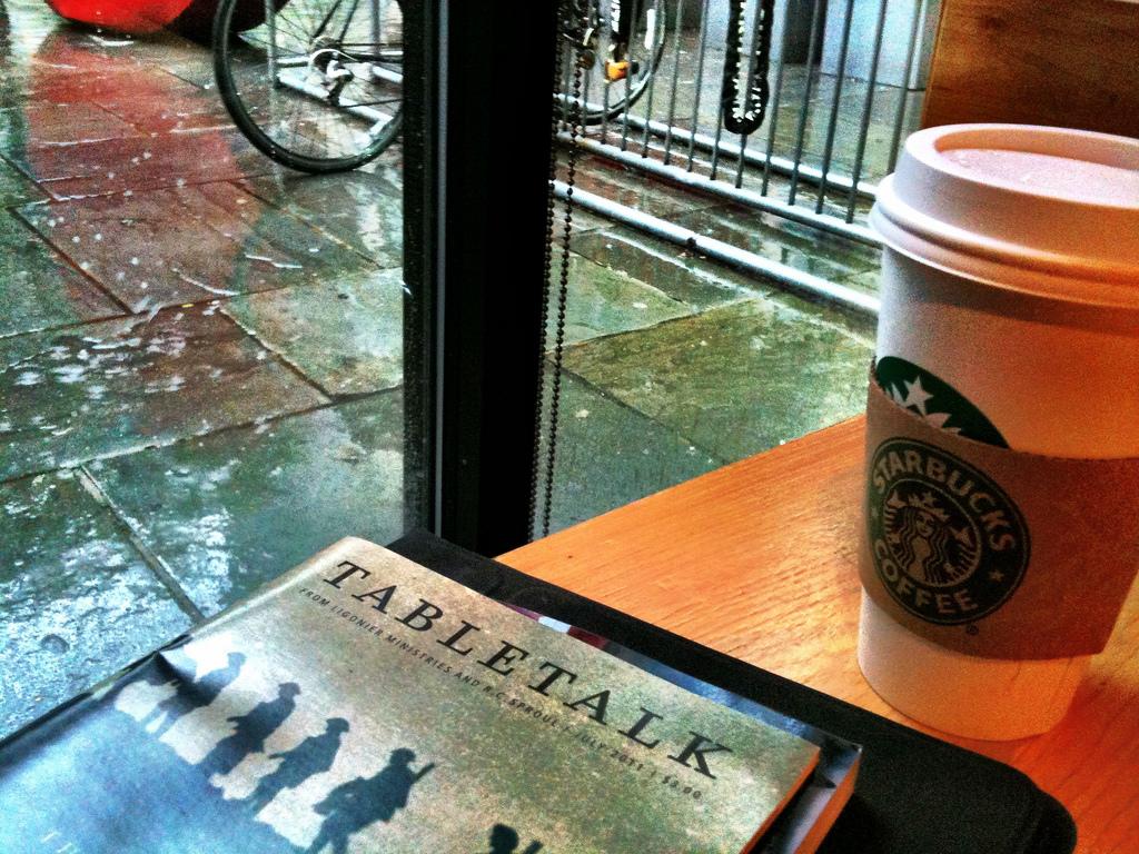 Studying at Starbucks in New York City