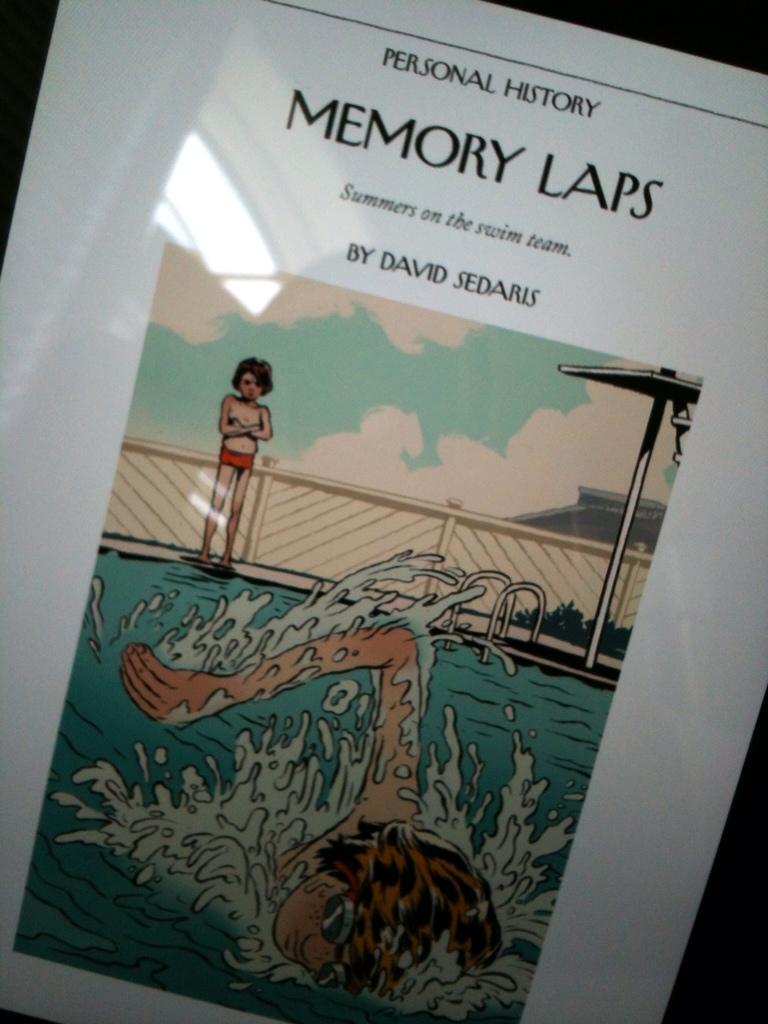 David Sedaris, The New Yorker, iPad