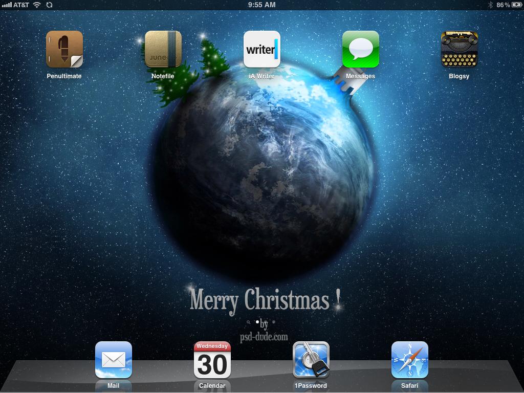 Christmas iPad Background