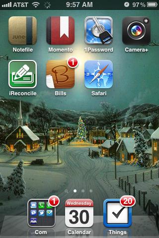 iPhone Christmas Background
