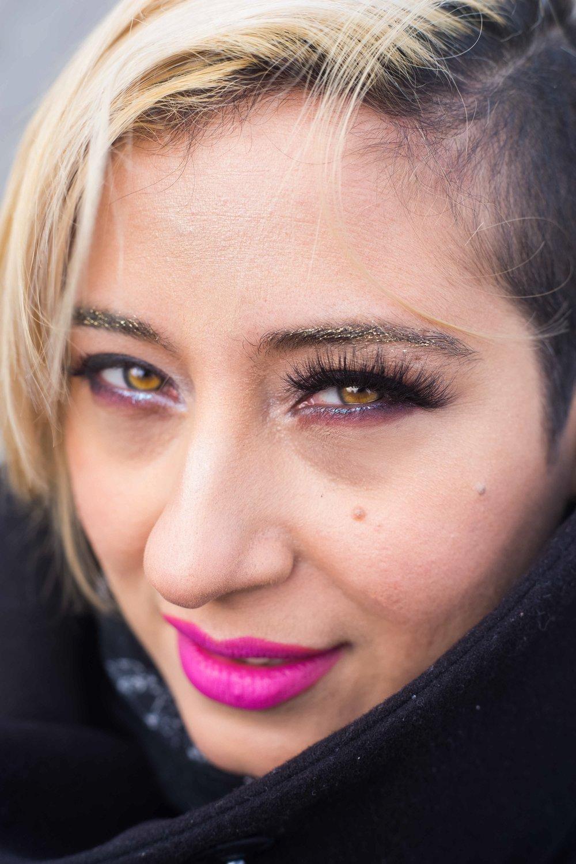 Halfway done with eyelashes!  MUA: LUISA PUMA (INSTAGRAM @LEPUMA1)  PHOTOGRAPHER: HANS ALCINDOR (INSTAGRAM @MISTERCANON)