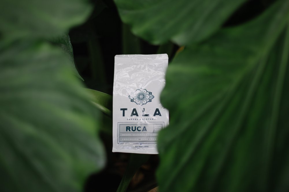 RUCA HOUSE BLEND - Ruca is our tried and true house blend. We love Ruca because it has a juicy sweet chocolate flavor. Complex enough to enjoy alone and goes great paired with cream, too!