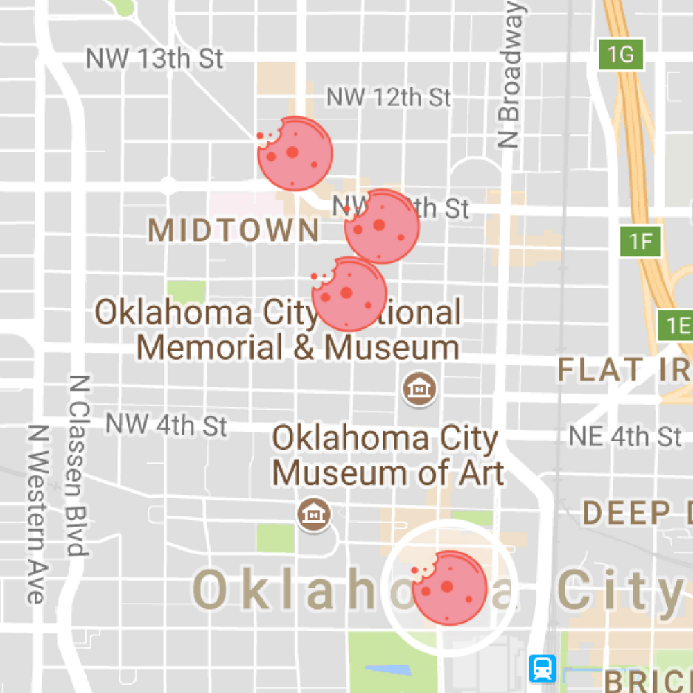 GET THE MAP TO OKLAHOMA CITY -