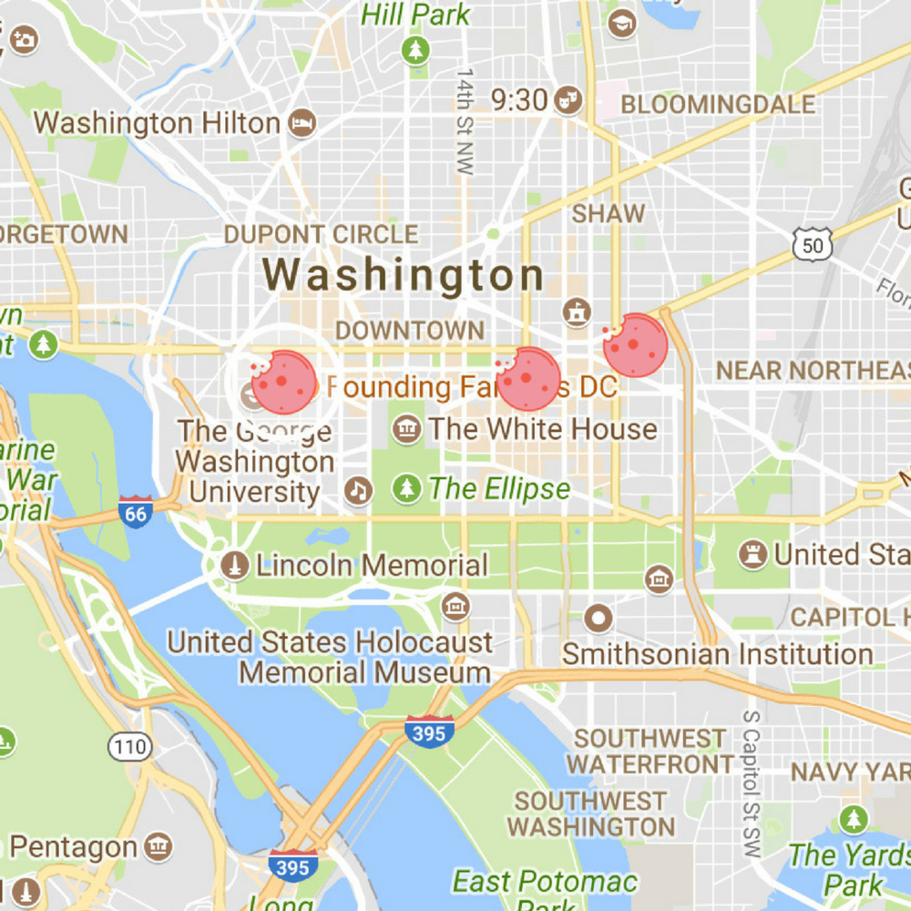 GET THE MAP TO WASHINGTON, D.C. -