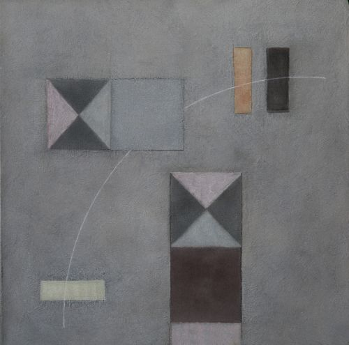 ALCAZAR  MIXED MEDIA ON LINEN | 76CM X 76CM