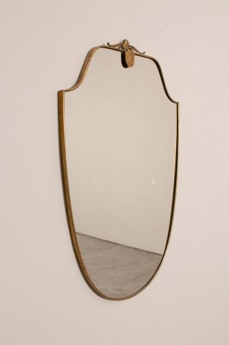 1960's Brass Framed Mirror      Sold