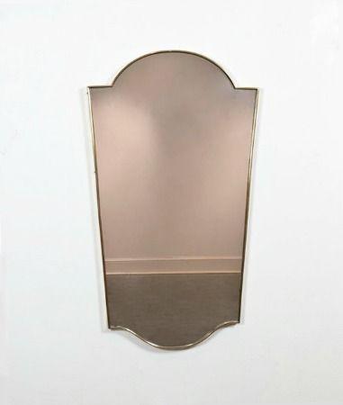 Italian brass framed mirror, circa 1960     Sold