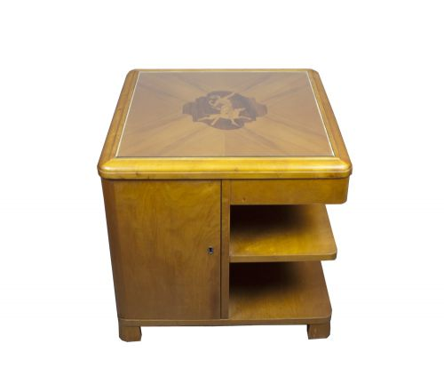 An Art Deco Satinwood Occasional Table in the Manner of Laszlo Hoenig