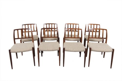Set of 8 Niels Otto Møller Dining Chairs (Model 83)     Sold