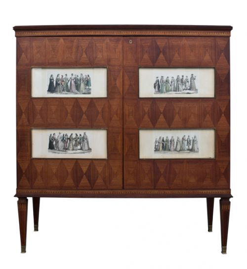 A Rosewood & Satinwood Drinks Cabinet by Paolo Buffa