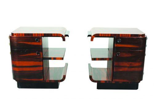 A Pair of Art Deco Macassar Ebony Lockers