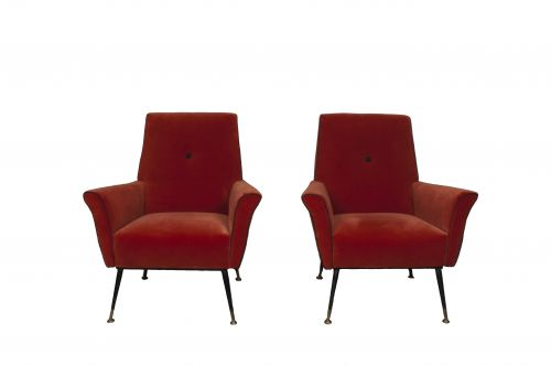 A Pair of 1940s Italian Armchairs