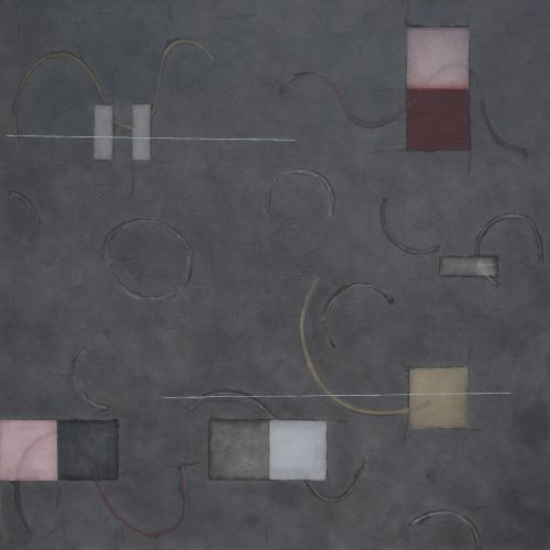 CONSTELLATION - B  MIXED MEDIA ON LINEN | 176CM X 176CM