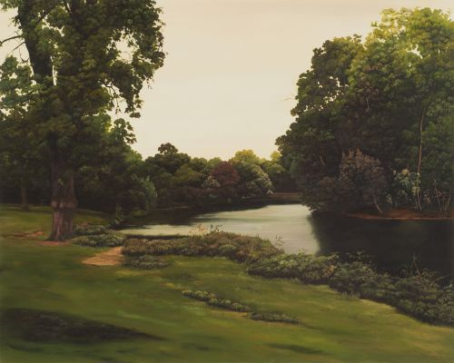 HANNAH BROWN | VICTORIA PARK 12    OIL PAINT ON MARINE PLYWOOD AND OAK | 32CM X 40CM