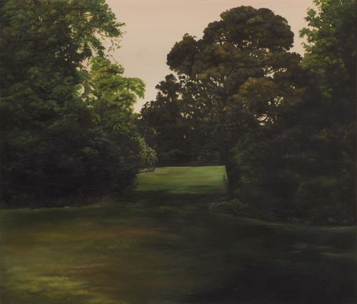 HANNAH BROWN | VICTORIA PARK 10    OIL ON MARINE PLYWOOD AND OAK | 23CM X 27CM