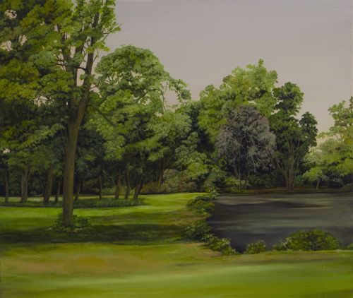 VICTORIA PARK 2      OIL ON PLYWOOD AND OAK | 23CMX27CM