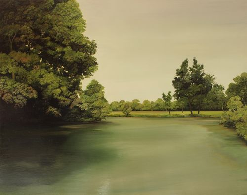 VICTORIA PARK 5      OIL ON PLYWOOD AND OAK | 36CMX46CM