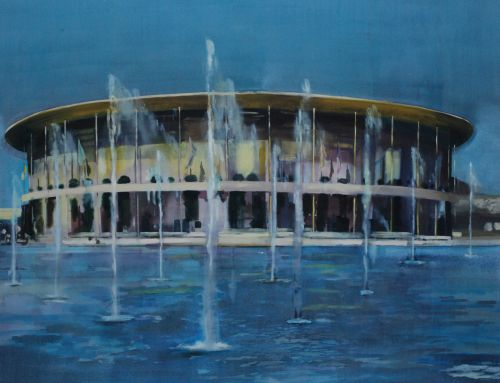 PAVILION    ACRYLIC & OIL ON CANVAS | 122CM X 153CM