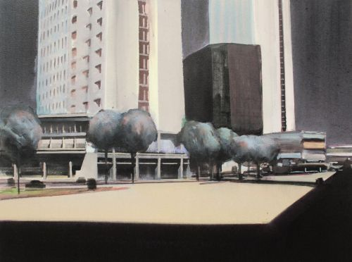 PLAZA    ACRYLIC ON CANVAS | 62CM X 82CM
