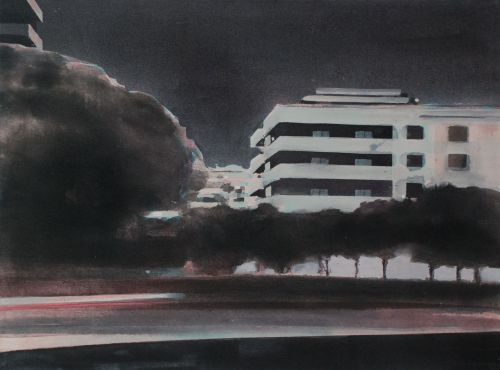 EDGE OF TOWN 2    ACRYLIC ON CANVAS | 62 X 82 CM