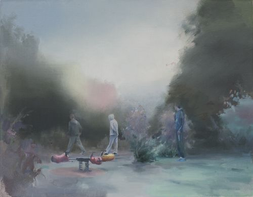 PLAYGROUND    OIL ON LINEN | 33 CM X 42 CM