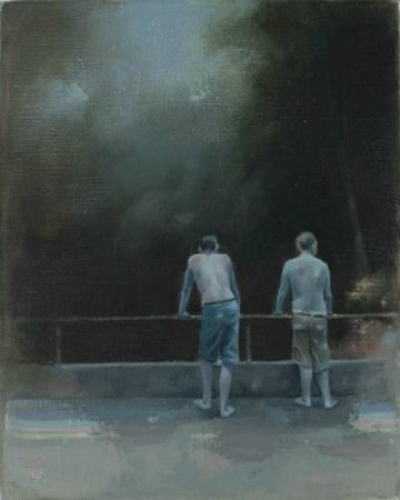 NIGHT SWIMMERS    OIL ON LINEN | 21 CM X 26 CM | 2014