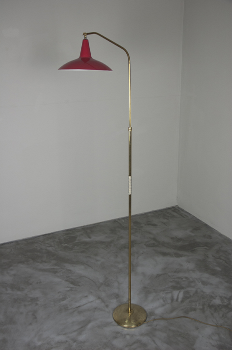 1940s Italian Brass Floor Lamp