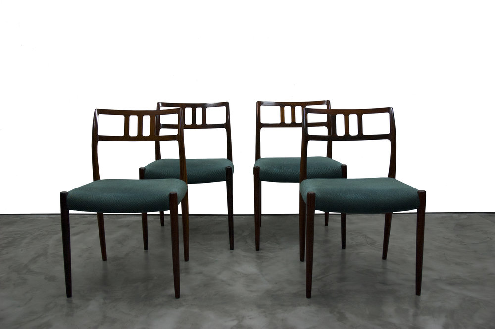 '79 Model' Rosewood Dining Chairs by Niels Otto Møller (set of 4)